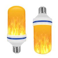 led-dekor-glühbirnen großhandel-Kreative 3 modi + Schwerkraftsensor Flamme Lichter E27 LED Flammeneffekt Feuer Glühbirne 7 Watt Flackern Emulation Decor Lampe