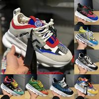 цены для женской обуви оптовых-Новые Мужчины Женщины Роскошная обувь Скидка Цена Дешевые Chain Reaction многоцветный Резиновые замша Мода Кроссовки Кроссовки Обувь для 5-11