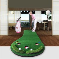 césped artificial de interior al por mayor-Marca de interior PGM Accesorios de práctica Golf Putting Trainer Green Putter Carpet Big Feet Golf Trainer Mat Mat Césped artificial