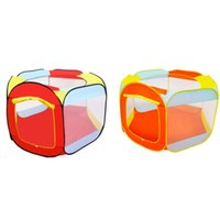Wholesale foldable kids tent house online - Folding Tent Game Girls Garden Play Tents Kids Children Toy House Indoor And Outdoor Easy Storage Fashion lk D1