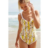 6b04bd500d142 One Piece Swimsuit 2019 Sexy Lace Print Swimwear Push Up Monokini Bandage  Bodysuit Beach Wear Bathing Suit Plus Size Swimsuit