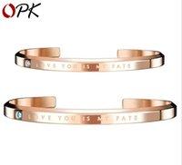 стальные вставки оптовых-Модные Простые мужские и женские кольца Титановая сталь Встроенный браслет из циркона Плита Открытый браслет