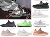zapatos oscuros oscuros del resplandor al por mayor-2019 v2 arcilla hiperespacio forma verdadera estática negro blanco resplandor en la oscuridad 3 m hombres reflectantes mujeres diseñador zapatillas zapatillas ultraboost