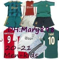 Wholesale soccer jersey embroidery resale online - 20 New men Ajax Soccer Jerseys HUNTELAAR TADIC VAN DE BEEK ZIYECH DOLBERG Embroidery kids Soccer Jerseys child Custom sets