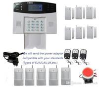 lcd verdrahtete häusliche sicherheit großhandel-App-gesteuertes DIY-Alarm-Kit mit LCD-Display 7 kabelgebundene und 99 kabellose Schutzzonen
