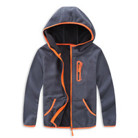 Wholesale boys school jackets for sale - Group buy 2018 School Boys Girls Sport Hooded Camping Hiking Jacket kids Polar Fleece Soft Shell Comfortable Clothing Kids Outerwear T