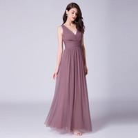 плиссированное платье длиной до пола оптовых-Сексуальные платья для подружек невесты с открытой спиной и плиссированной юбкой длиной до пола Accept Custome Made Royal Blue / бордовый / черный