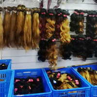Wholesale brazilian hair sale prices resale online - Wavy straight natural virgin Brazilian ombre human hair weft cheapest sale price bulk deals