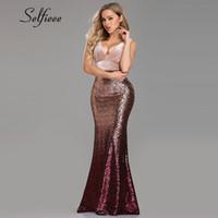 robes en velours sirène achat en gros de-Sexy Party Dress Femmes 2019 Robes De Fiesta Nouvelle Mode Sirène V Cou Velours Robes De Printemps Paillettes Paillettes Robe Moulante