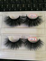 false hair großhandel-25mm lange falsche Wimpern des Haares des Nerzes 3D, zum der Wimperverlängerungsversion durch freies Verschiffen von Hand zu bilden