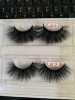 Wholesale lashes mix resale online - 25mm long D mink hair false eyelashes to make eyelash lengthening version by hand with paper box