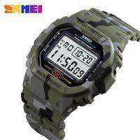 dijital saatli ışıklı toptan satış-SKMEI 1471 Su Geçirmez Işık Dijital İzle Spor Erkek Kol erkek Saatleri Relogio Masculino relojes para hombre