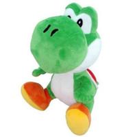 peluche de yoshi verde al por mayor-Super Mario Brothers Bros Green Yoshi Plush 7 in Juguete de peluche para niños Regalos de Navidad Más nuevo caliente