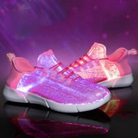 Kinderschuhe Größe 25 46 Sommer führte LWL Sneaker für womenns USB aufladen glühende Turnschuhe menns Mädchen Jungen leuchten in der Nacht Schuhe nach