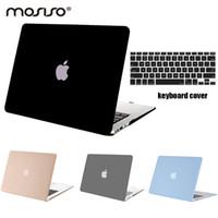 macbook pro a1398 toptan satış-Mosiso Dizüstü Temizle Sert Kapak Kasa Pro 13 15 Retina A1502 / A1425 A1398 Yıl 2013 2014 2015 + Silikon Klavye Kapak