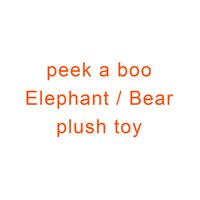 peek boo spielzeug großhandel-Spielen Sie Musik Elefant / Bär Plüschtier Peek a Boo Teddybär Baby Animated Flappy Peek a Boo Der Elefant Plüschtier