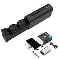 iphone kulaklık gürültüsü iptal mic toptan satış-TWS Kablosuz Bluetooth Kulaklık IPX5 Su Geçirmez Kulaklık Gürültü Iptal Spor Stereo Kulaklık Bluetooth 5.0 Kulakiçi Mic Ile Şarj Durumda