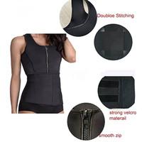 fe2c3f91d5 wholesale Polyester Waist Trainer Women Mens Waist Trimmer Sport Fitness  Tummy Control Corset Body Shaper Belt Waist Support
