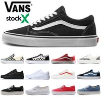 2020 Stock X Van Old Skool Classic canvas Casual Shoes Men Women fear of god black white skate skateboard platform mens trainers sneakers