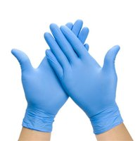 механические перчатки бесплатная доставка оптовых-Резиновые перчатки чистки порошок свободный нитрил латекс перчатки одноразовые противоскользящие кислоты экзамен удобный диспенсер нитриловые перчатки