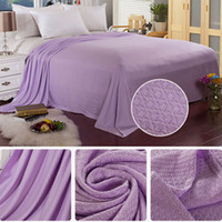Wholesale car quilts for sale - Group buy Bamboo Fiber Travel Quilt Car Seat Throws Anti Microbial Sofa Rug Sleeping Supplies Bedding Hot Large Towel Blanket Breathable