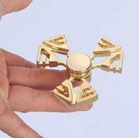 Wholesale metal gyroscope toy resale online - Design Metal Hand Spinner Torqbar Brass Gyroscope Metal Fidget Tri Spinner Colorful EDC Gyro Toys Spinning Top Spinner Hand Gag Toys