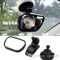 espejos traseros del coche al por mayor-Asiento trasero del coche de bebé Ver Espejo 2 en 1 Mini asiento infantil trasero del espejo convexo ajustable Auto Niños monitor de seguridad Seguridad inversa