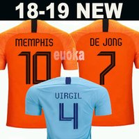 688fc5365 Wholesale netherlands home soccer jersey for sale - 2019 Netherlands  European Cup jerseys DE JONG VIRGIL