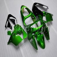 ingrosso zx9r 1998 carenatura-23 colori + regali ABS verde carenatura moto cappuccio per Kawasaki ZX-9R 1998-1999 ZX9R 98 99 Kit corpo moto