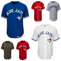 0f367978c Men Women Youth Blue Jays Jerseys Blank Jersey Baseball Jersey No Name No  Number White Gray Grey Blue Red Canada Day Green Salute to Service