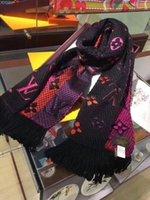 ingrosso fasce di cashmere invernale per le donne-Sciarpa di seta invernale Sciarpa lunga di seta per le donne e gli uomini Fiore caldo stampato Sciarpe calde Sciarpe di lana Sciarpa di cashmere Regali 180x30cm