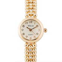 Wholesale pearl wrist watch resale online - Fashion JW Brand Women Luxury Pearl bracelet Gold Quartz Watch Diamond Timepiece ladies Gift Student wrist watches