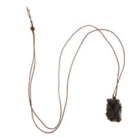 Wholesale natural black tourmaline pendant for sale - Group buy Handmade Pendant With Natural Black Tourmaline Stone And Natural Stone Crystal Material