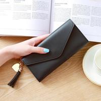 ingrosso casi di borse in pelle-Le donne della signora Clutch in pelle raccoglitore lungo della carta del supporto del telefono del sacchetto della cassa della borsa della borsa