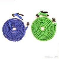 Wholesale pressure hose resale online - High Pressure Car Wash Blue Green Latex Expanding Flexible Hose m25ft Telescopic Spray Nozzle Bathroom Faucets Equipment bm6 ii