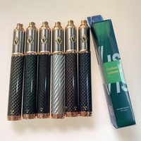 dampfzähne rot groihandel-Vision Spinner 3 Vape Pen 510 Gewinde Batterie Kohlefaser Vision III Elektronische Zigarette der Batterie 3.3-4.8V Spannung einstellbar 1600mAh