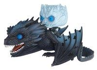 neue throne großhandel-NEUE Heiße 11 cm 2 stücke Nacht König Game of Thrones Nächte König Viserion Dragon Action Figure Spielzeug Sammler Weihnachtsgeschenk Keine Box