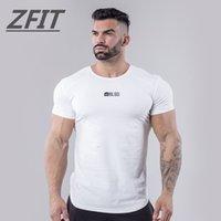 spandex camiseta de los hombres al por mayor-2019 New Sports Shirt Men Fitness Tops Rashgard Hombre Running T Shirt masculina ropa deportiva Crossfit Gym T hombres Slim Fit camisas