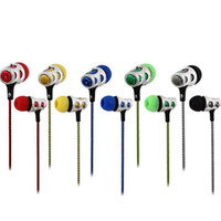 ingrosso microfono auricolari-Nuovi 5 colori Braide Auricolare universale 3.5mm in ear earphones cuffie auricolari cuffia con microfono Auricolari per Samsung iPhone HTC huawei