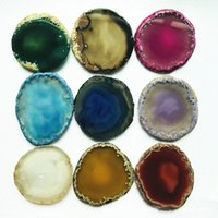 New Arrival Universal Real Stone Agate Stone Style for Grip Phone Holder Irregular Shape Stone