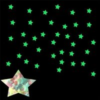 Wholesale halloween movies box set for sale - Group buy 100 Set Mixing Stars Glow In The Dark Luminous Fluorescent Wall Stickers Living Home Decor For Kids Rooms