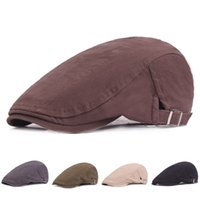 ingrosso cappelli piatti di caccia-Moda Unisex Cotton Ivy Newsboy Caccia Hat Guida piatta Cabbie Caps Uomo Donna Travel Parasole Cappelli Retro Forward Hat