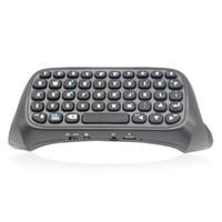 claviers rechargeables achat en gros de-Mini Clavier Sans Fil Avec Souris Touchpad Pour PS4 Rétro-Éclairé Bluetooth Rechargeable Clavier Adaptateur Messager Chatpad