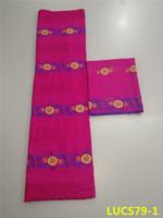 tela de encaje rojo para la venta al por mayor-Venta caliente diseño africano tela de encaje de algodón suizo con blusa encaje de algodón con tejido de red francés Swiss Voile Lace african