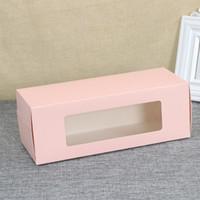 ingrosso colore della torta della scatola-Half Roll Cake Cake Boxes Portable West Point Box Colore puro Baking Case Cover Covered Bright Film Bottom Staffa 0 75psb1