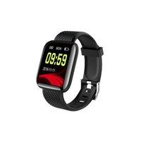 rastreador de tops al por mayor-Top Fitness Tracker ID116 PLUS Pulsera inteligente con frecuencia cardíaca Banda de reloj inteligente Pulsera de presión arterial PK ID115 PLUS F0 para Fitbit MI