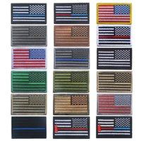 parches bordados banderas al por mayor-8 * 5cm Parches bordados para la bandera Insignia del ejército Parche para la bandera de EE. UU. Parches tácticos duraderos en 3D Banderas nacionales Insignia Gancho de bucle Sujetador 18 estilos G837F