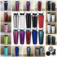 Wholesale powder drinks for sale - Group buy 750 mL double stainless steel cup oz vacuum shaking cup outdoor sports protein powder insulation water cup T3I5268