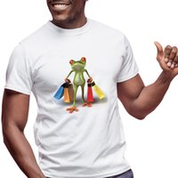 boutique en toile à imprimé 3d achat en gros de-YFFUSHI 2019 Été 3d T-shirt Hommes Shopping Grenouille T-shirt Hommes 3D Imprimer Tops Cool Tees Cartoon Animal Pour 5XL Oversize