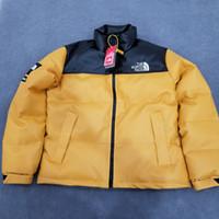 ingrosso cappotti di cuoio di lusso-New Luxury Leather Jacket Mens Parka Donne Giù Cappotti PU inverno cappotto di spessore del rivestimento, tenere al caldo Zipper all'aperto Moda Windbreaker J77 B103520L